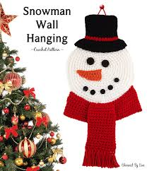 snowman wall hanging charmed by ewe