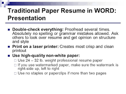 professional resume paper cozy design how to do a resume paper 9