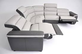 carola full top grain italian leather sectional sofa with