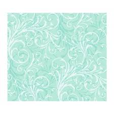 girls white scroll on sea green modern contemporary wallpaper