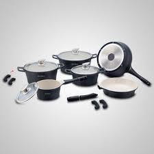 batterie cuisine ceramique batterie de cuisine de 14 pièces en céramique 12