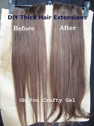 sewed in hair extensions how to make your clip on hair extensions thicker oh you crafty gal
