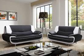 canapé design noir et blanc deco in canape 3 2 places design noir et blanc marita marita