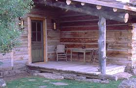 cabin porch smr guest cabins ewing architects