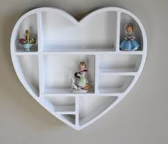 Wall Shelves For Girls Bedroom Heart Shaped Wall Shelf Bedroom Girls Kitchen Storage Office