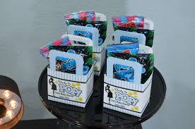 Blue Favor Boxes by Ready To Pop Blue Baby Shower Favor Table Candles And Favors