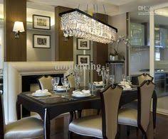 Contemporary Dining Room Chandeliers Jolie Antique Black 5 Light Rectangular Crystal Chandelier