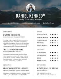 Web Content Manager Resume Universal Community Manager Resume Templates By Canva