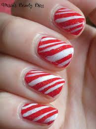 misch u0027s beauty blog notd december 15th candy cane nail art