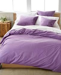 Duvet Cover Purple Calvin Klein Washed Essentials Color Wash Duvet Cover Sets Duvet
