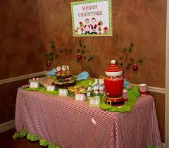 christmas cookie decorating party refreshment table for more
