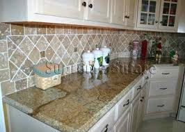 kitchen fancy tumbled stone kitchen backsplash traditional
