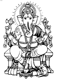 ganesha coloring pictures ganesh chaturthi coloring pages top 80