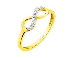 apart pierscionki zareczynowe pierścionek z żółtego złota z diamentem wzór 109 589 apart