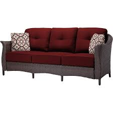 Hanover Patio Furniture Gramercy 4 Piece Seating Set In Crimson Red Gramercy4pc Red
