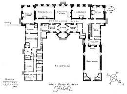 House Plans Architect Schweppe Mansion Main Floor Plan Historic House Plans