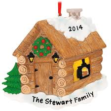 personalized christmas log cabin personalized christmas tree ornament home