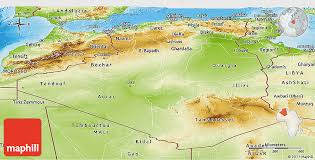 algeria physical map physical panoramic map of algeria