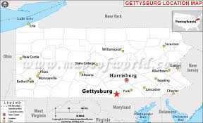 where is gettysburg located in pennsylvania usa