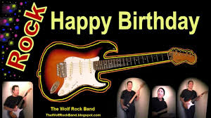 happy birthday song rock version birthday card the wolf