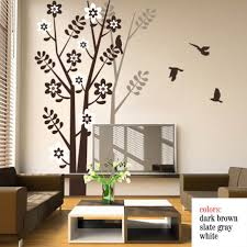 chic wall design tree wall decals for living room wall stickers