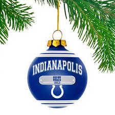 indianapolis colts 4 snowcap glass ornament