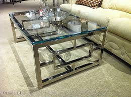 Glass Living Room Table Sets Amazing Of Chrome And Glass Coffee Table Chrome And Glass Coffee