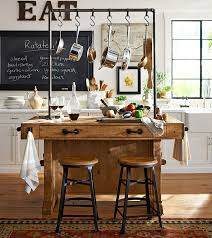 pottery barn kitchen islands an antique carpenter s workbench was the inspiration for this