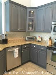 Kitchen With Painted Cabinets General Finishes Queenstown Gray Milk Paint General Finishes