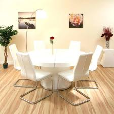 glass dining table for 6 glass dining table and 6 white leather
