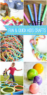 a collection of fun and quick crafts perfect to keep the kids