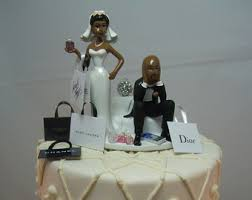 black wedding cake toppers american etsy