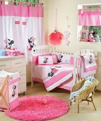 Minnie Crib Bedding Set Baby Bedding Sets Disney Baby Minnie Mouse Flower 4 Crib Set