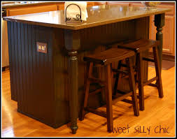 kitchen island table legs diy kitchen island update silly chic