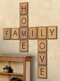 Decorations Home Family Wood Scrabble Wall Art Scrabble Tiles Diy Wood And Scrabble