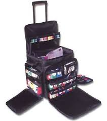 large scrapbook scrapbook tote on wheels rolling travel storage craft bag x