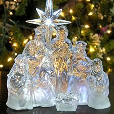 Holy Family Outdoor Christmas Decoration Nativity Scene By Collections Etc by Amazon Com Nativity Scene Led Acrylic Christmas Nativity