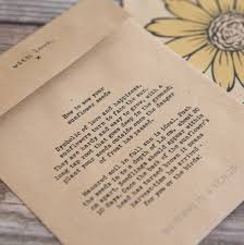 personalized seed packets 10 personalised sunflower seed packet favours by wedding in a