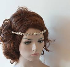 bridal headband wedding hair accessories rhinestone and pearl headband bridal