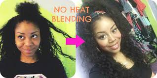 how to fix kinky weave on natural hair two ways to blend natural hair with weave using no heat youtube