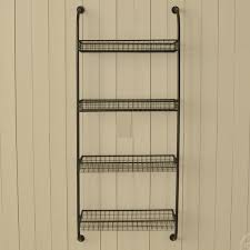 Wall Mount Wire Shelving by Wall Mounting Shelf Unit With 4 Wire Shelves