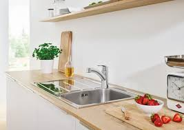 kitchen faucet with spray faucet com 30306000 in starlight chrome by grohe