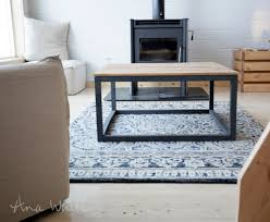 ana white industrial style coffee table as seen on diy network