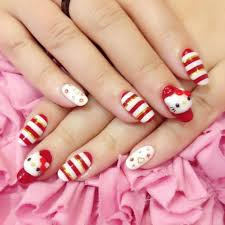 hello kitty japanese nail arts