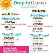 5 hr class in drop in class schedule academy