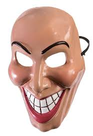 evil grin mask purge smile halloween fancy dress costume