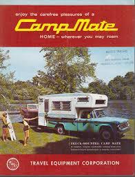 Vintage Ford Truck Camper - travel equipment corp camp mate pickup truck camper sales folder