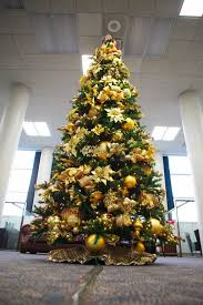 remarkable silver and gold tree decorated in