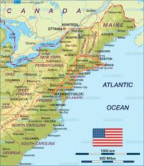 Map Of Usa Showing New York by Roadtrip Recap U2013 East Coast Usa U2013 Fifty States One Day