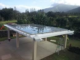 solar panel pergola hmm good idea since we get mass amounts of